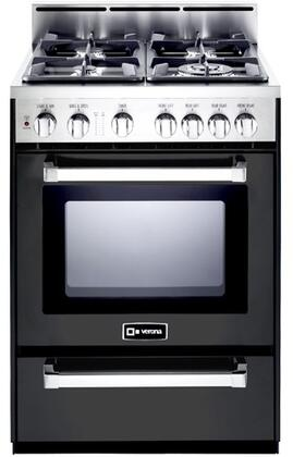 VEFSGG244NE 24″ Freestanding Gas Range with 4 Sealed Burners  2.5 cu. ft. Capacity  Broiler Pan  Storage Drawer  and Electronic Ignition  in Matte