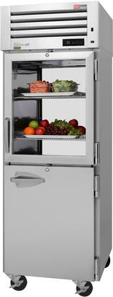 PRO-26R-GSH-PT-N 29″ Pro Series Glass & Solid Half Door Pass-Thru Refrigerator with 26.48 cu. ft. Capacity  Self-Cleaning Condenser  Digital
