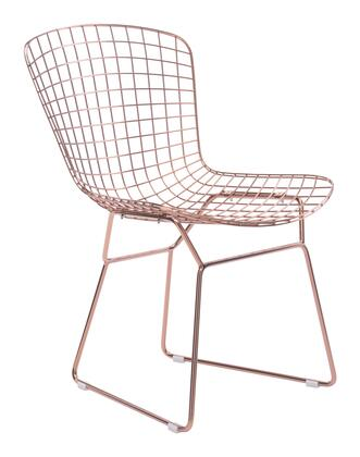 Zuo Wire 100361 Dining Room Chair Beige, 100361 1