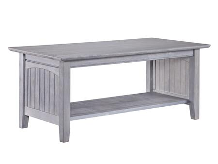 Atlantic Furniture Nantucket AH15308 Coffee and Cocktail Table Gray, AH15308 SILO 30