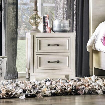 Furniture of America Tywyn CM7365WHN Nightstand White, Main