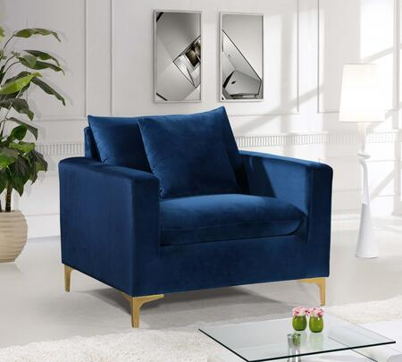 Meridian Naomi 633NAVYC Living Room Chair Blue, Main Image