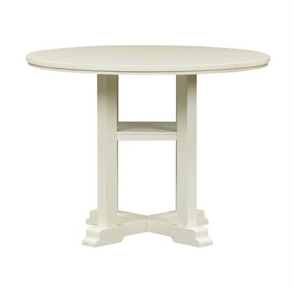 Liberty Furniture Summer Hills 518GT4848 Dining Room Table White, Front View