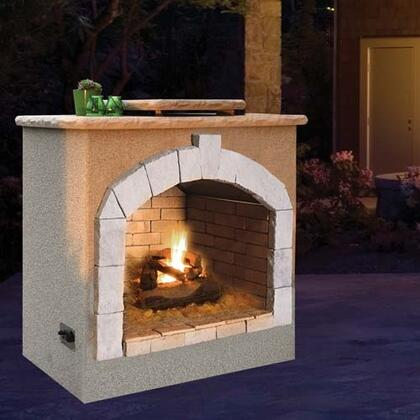 Cal Flame Frp906 1 48 Inch Outdoor Fireplace With 55 000 Btu Fire