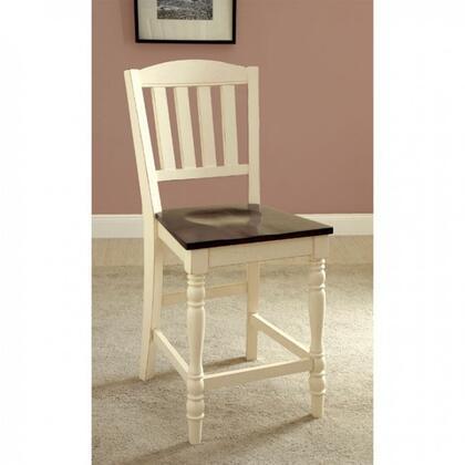 Furniture of America Harrisburg II CM3216PC2PK Bar Stool White, Main Image