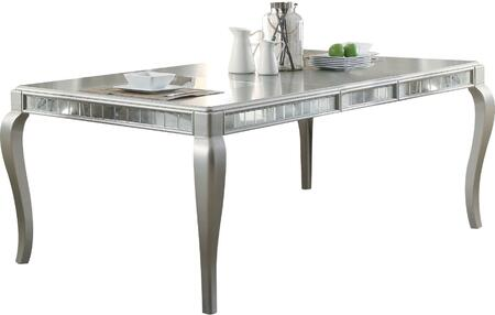 Acme Furniture Francesca 62080 Dining Room Table Silver, Dining Table