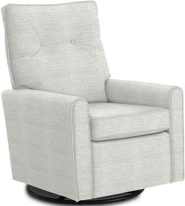 Phylicia Collection 4007-20013 Recliner with 360-Degrees Swivel Glider Metal Base  Removable Back  High Backrest  Zipper Access and Fabric Upholstery
