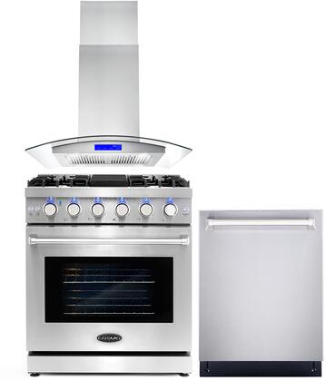 Cosmo  COS3PKG024 Kitchen Appliance Package Stainless Steel, COS 3PKG 024