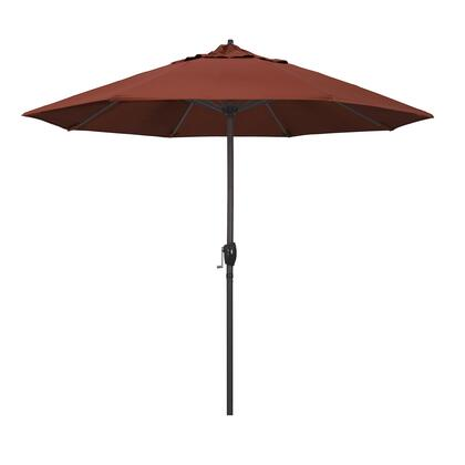 Casa Collection ATA908117-5440 9′ Patio Umbrella With Bronze Aluminum Pole Aluminum Ribs Auto Tilt Crank Lift With Sunbrella 2A Terracotta