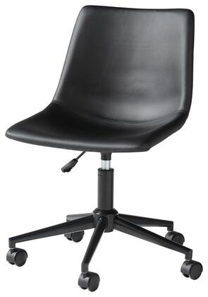 Signature Design by Ashley Office Chair Program H20009 Office Chair Black, Angle Side View
