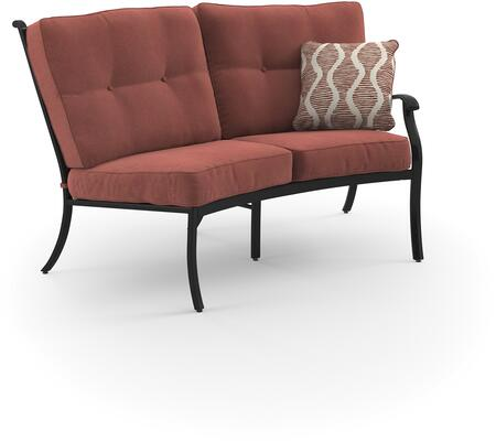 Signature Design by Ashley Burnella P456855 Outdoor Patio Loveseat Orange, Main Image