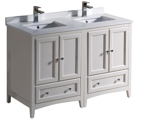 Fresca Oxford Collection Fcb20 2424aw Cwh U 48 Inch Double Vanity