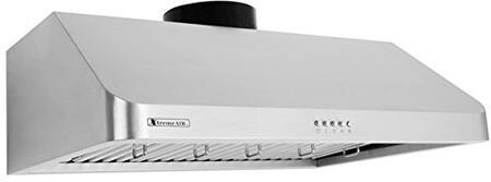 XtremeAir Ultra UL10U36 Under Cabinet Hood Stainless Steel, 1