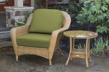 Tortuga Sea Pines LEXCT1MKIWI Outdoor Patio Set Brown, LEXCT1MMONS Main Image