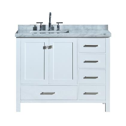 Ariel Cambridge A043SLCWRVOWHT Sink Vanity White, A043SLCWRVOWHT front