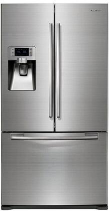 Samsung Appliance  RFG237AARS French Door Refrigerator Stainless Steel, Front View