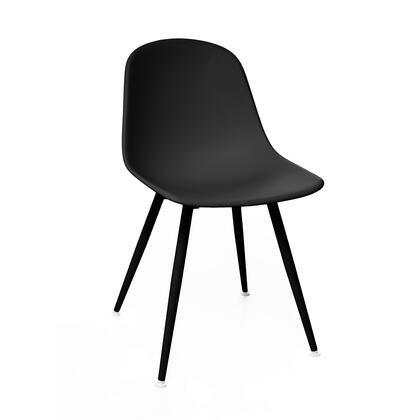 Design Lab MN Grazia LS9443BLKBLK Accent Chair Black, 048514b2 163c 4759 9801 4dc4afa2d7c5