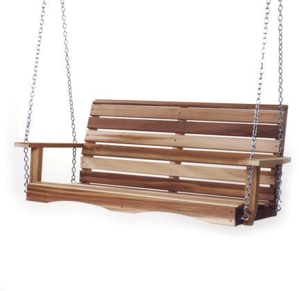 All Things Cedar PSXXSW10 Outdoor Patio Swing Brown, 1