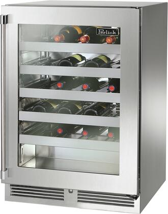 Perlick Signature HP24WS43R Wine Cooler 26-50 Bottles Stainless Steel, Main Image