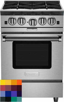 BSP244BCF 24″ Platinum Series Freestanding Range with 4 Open Burners  Interchangeable 2-in-1 Griddle Charboiler  Innovative PowR Oven  and Powerful