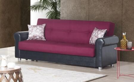 Casamode Avalon Plus AVALONPLUSSOFABEDPRUSABURGUNDY Sofa Bed Red, Main Image