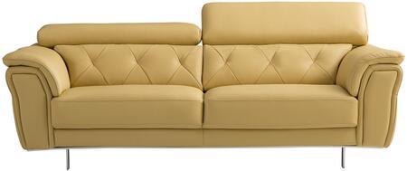 American Eagle Furniture EK068 EK068YOSF Stationary Sofa Yellow, Main Image