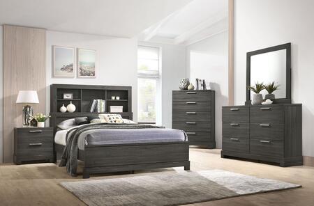 Acme Furniture Lantha 22027EKSET Bedroom Set Gray, Bedroom Set.