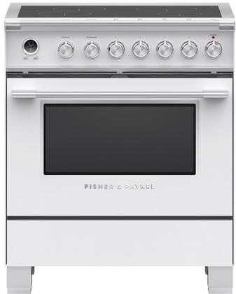 Fisher Paykel Classic OR30SCI6W1 Freestanding Electric Range White, OR30SCI6W1 Classic Induction Range