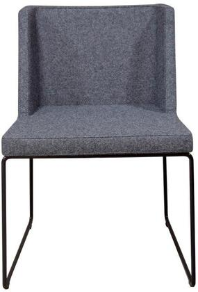 Easy Collection 100-BT-06-C-CUZ30 Sled Chair in Dark