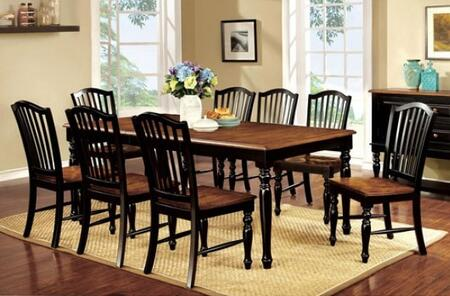 Furniture of America Mayville CM3431T8SC Dining Room Set Multi Colored, main image