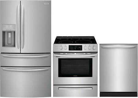 Frigidaire  1010197 Kitchen Appliance Package Stainless Steel, main image