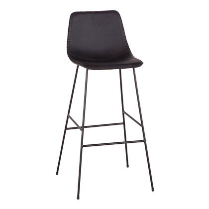 Hudson Collection ZWBCCRSBLB-2X Set of 2 Bar Chairs in Black