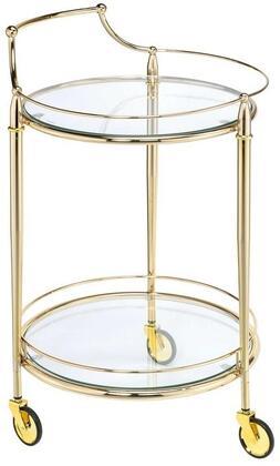 Acme Furniture Macha 98285 Serving Carts Gold, Serving Cart