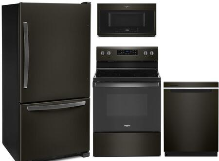 Whirlpool 1127430 Kitchen Appliance Package & Bundle Black Stainless Steel, Main Image