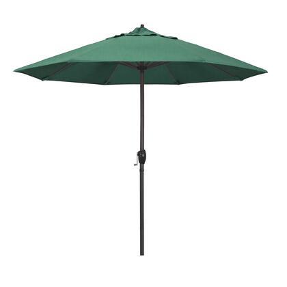 Casa Collection ATA908117-48090 9′ Patio Umbrella With Bronze Aluminum Pole Aluminum Ribs Auto Tilt Crank Lift With Sunbrella 1A Spectrum Aztec