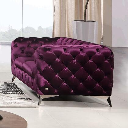 J and M Furniture Glitz 183352LP Loveseat Purple, Main Image