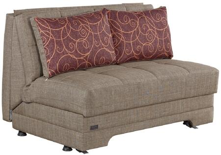 Empire Furniture USA El Paso LSELPASO Sofa Bed Brown, LS-ELPASO Front View