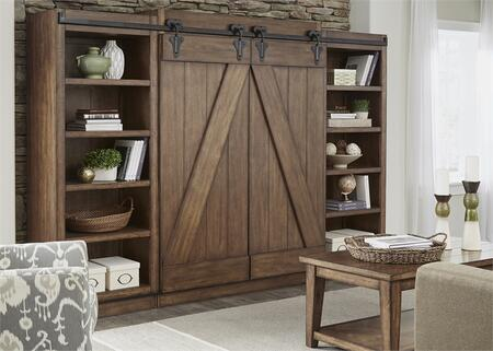 Liberty Furniture Lancaster II 712ENTWECP Entertainment Center Brown, Main Image