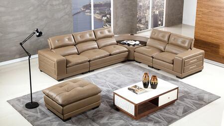 American Eagle Furniture EK-L121 EKL121MTPE Sectional Sofa Brown, Main Image