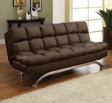 Furniture of America Aristo CM2906DK Futon Brown, Main Image