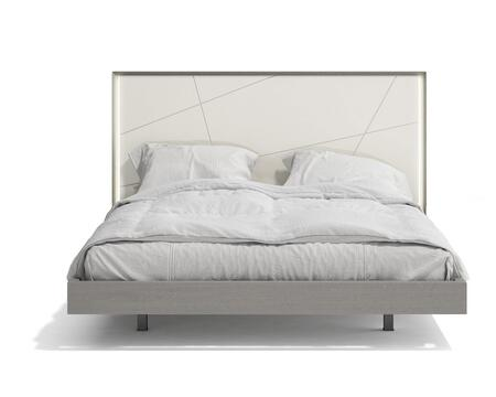 Sintra Collection 17554-Q Queen Size Bed with LED Headboard  Select Wood/Wood Veneers Construction and Hand-Crafted in
