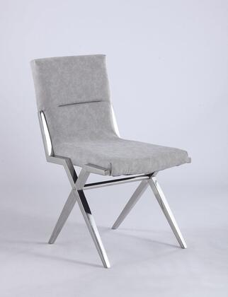 Chintaly Ava Series FAITHSCGRY Dining Room Chair Gray, Main Image