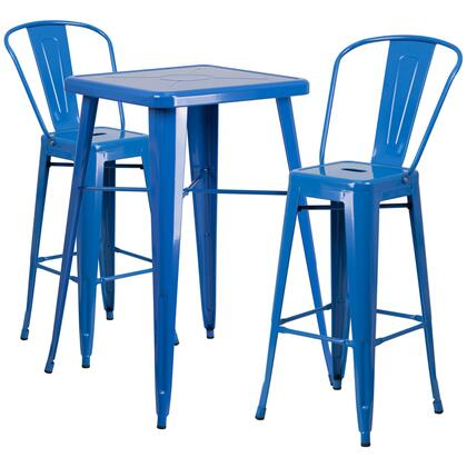 Flash Furniture CH31330B CH31330B230GBBLGG Outdoor Patio Set Blue, CH31330B230GBBLGG