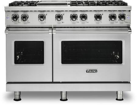 Viking 5 Series VGR5486GSSLP Freestanding Gas Range Stainless Steel, Main Image front view