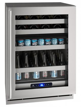 UHBD524SG01A 24″ 5 Class Dual-Zone Beverage Center with 5.1 cu. ft. Capacity  Digital Touch Pad Control and Convection Cooling System in Stainless