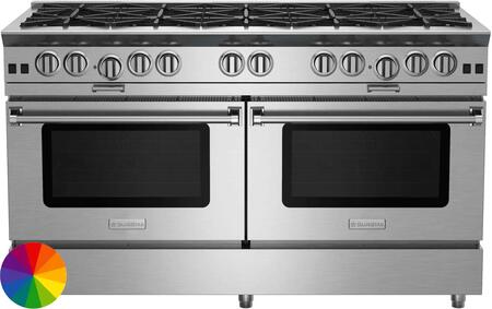 "BlueStar Platinum BSP6010BLCPLT Freestanding Gas Range Custom Color, 60"" Platinum Series Range"
