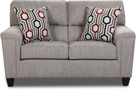2015-02 DANTE CONCRETE 64″ Loveseat with Split Back Cushions and 2 Accent