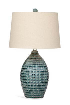Bassett Mirror Trade L2941TEC Table Lamp Blue, L2941TEC