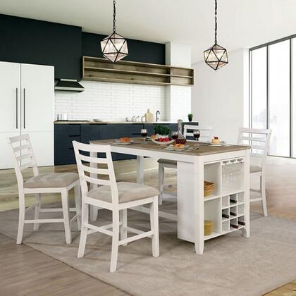 Furniture of America Kiana CM3156PTPC5PCSET Dining Room Set White, Main Image