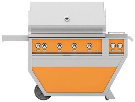Hestan GMBR42CX2NGOR Natural Gas Grill Orange, Front View
